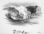 billabong art -Wave city Tee shirt design by Phil Roberts