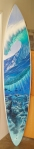 Phil Roberts painted wave surfboard