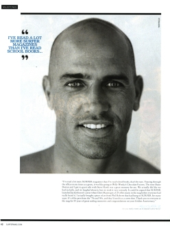 Surfer Magazine - Kelly Slater Quote