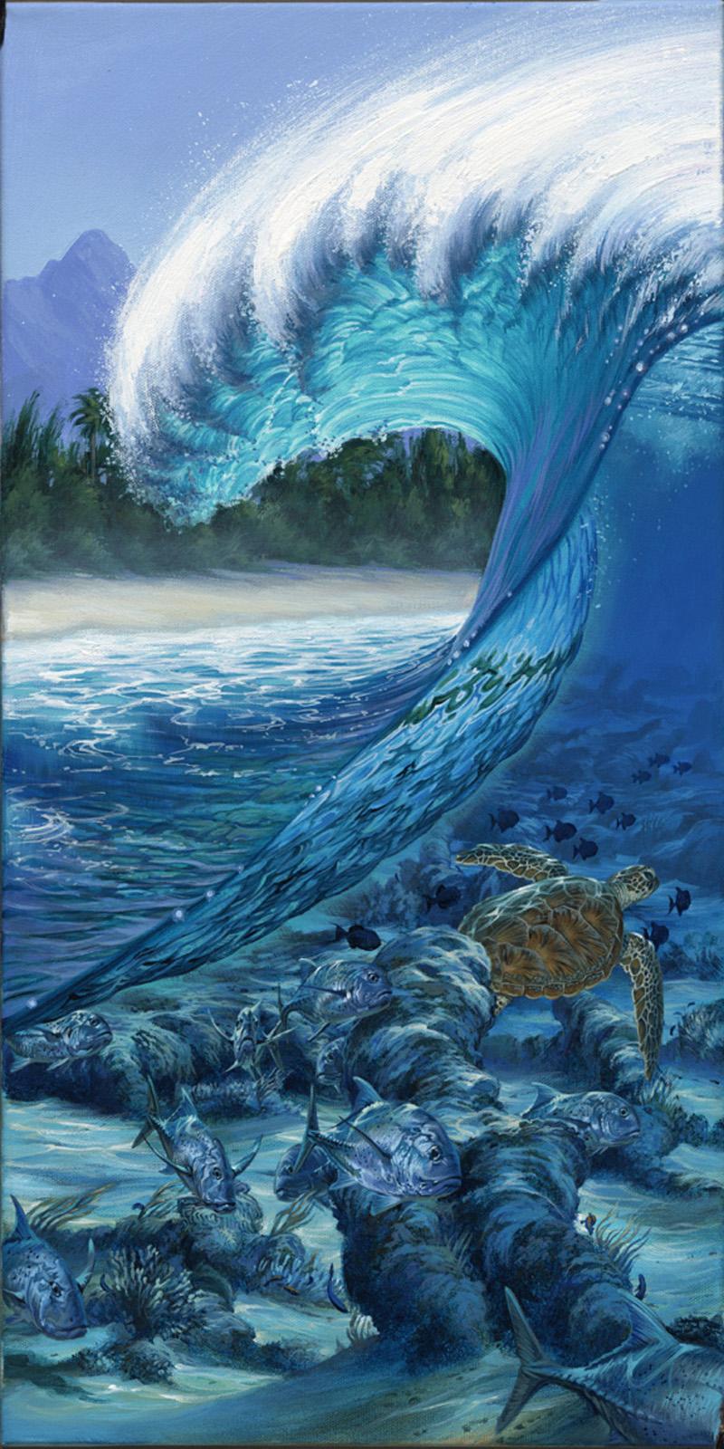 wave barrel hd wallpaper