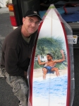 Pipeline Masters 2009 Surf board Trophy by Phil Roberts