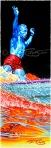 Dewey Weber Watercolor - pop art blue, by Phil Roberts