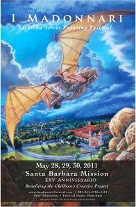 I Madonnari Italian Street Painting Festival in Santa Babara - Poster by Phil Roberts