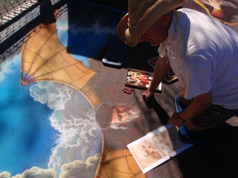 Phil Roberts painting Leonardo Davinci