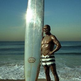 Phil Roberts Sculpture - Greg Noll Bronze sculpture