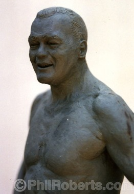 Bronze Sculpture of Greg Noll by Phil Roberts