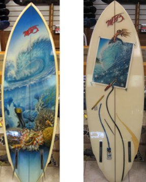 Phil Roberts Painted Surfboards