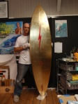 Finished Gold Leafing PipeLine Masters Surf Trophy - Phil Roberts