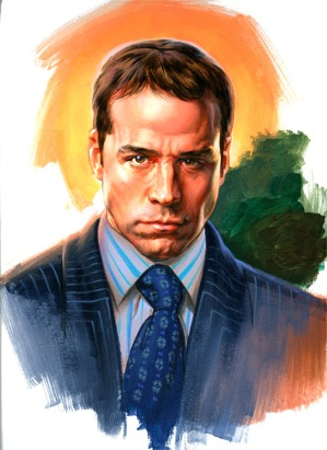 Ari Gold Portrait Entourage By Phil Roberts