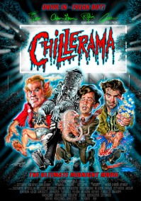 Chillerama Teaser Movie Poster- The Ultimate Midnight Movie - by Phil Roberts