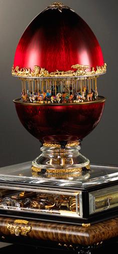 Jeweled Balboa Park Carousel Egg Phil Roberts