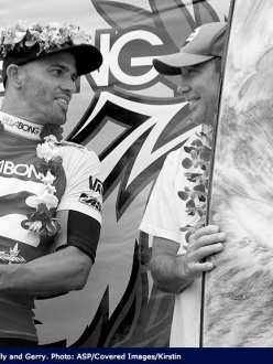 Phil Roberts '08 Pipeline surfboard trophy Kelly Slater wins