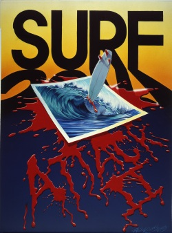 Surf Attack Movie Poster by Phil Roberts