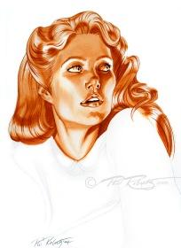 World of Tomorrow portrait painting of Gwyneth Paltrow