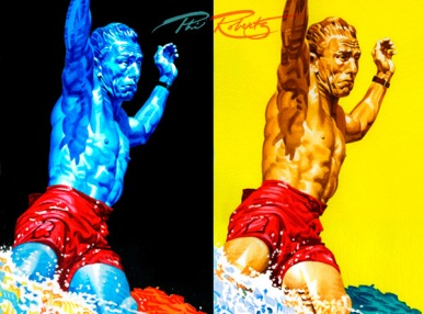 Dewey weber watercolor paintings, pop art series by Phil Roberts