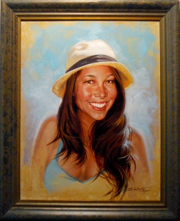 kalani miller kelly girlfriend portrait painting phil roberts