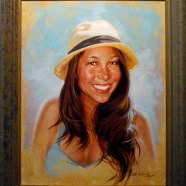 kalani miller kelly girlfriend portrait painting phil roberts