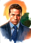 Original Painting of Arie from Entourage by Phil Roberts