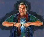 Original Painting for Chevy Chase's Christmas Vacation by Phil Roberts
