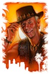 Original Crocodile Dundee II Portrait Painting by Phil Roberts