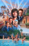 Entourage Movie Poster Painting by Phil Roberts