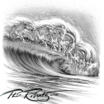 Horse Wave surf art by Phil Roberts