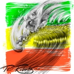 Lion wave by surf artist Phil Roberts