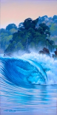 oil painting, surf art - wave painting by Phil Roberts