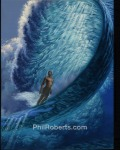 Gerry Lopez surfing Pipeline Painting by Phil Roberts