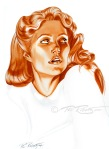 word of tomorrow portrait painting of Gwyneth Paltrow by Phil Roberts
