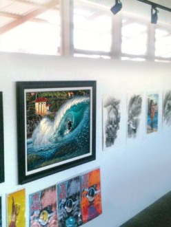 Surf Show featuring Phil Roberts art at Location 1980 Gallery