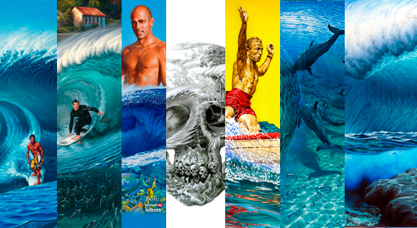 Surf Art, surf paintings, movie posters, fine art by Phil Roberts