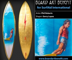 Pipe Masters Collection Surfboard shaped by Gerry Lopes for the Board Art Benefit