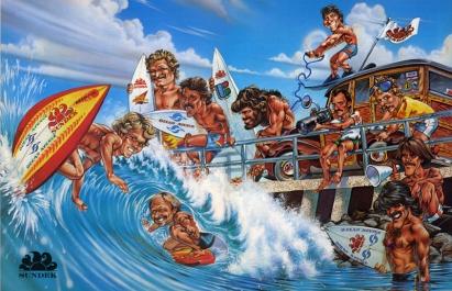 Illustration in Surfer Magazine for Sundek by Phil Roberts