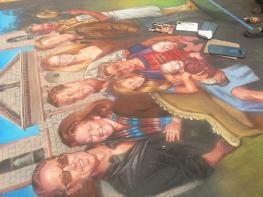 I Madonnari 2013, Santa Barbara festival, Italian street painting festival, 2013 santa barbara, Phil Roberts Portraits