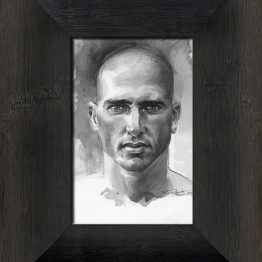 Kelly Slater surf art, watercolor portrait painting by Phil Roberts