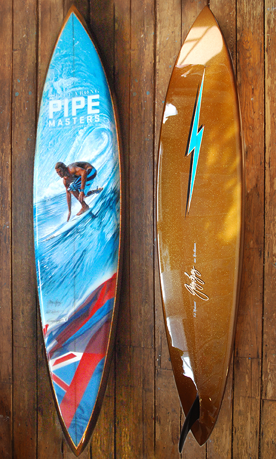 billabong pipe masters trophy board phil roberts 2013 pipeline champion