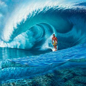 Andy-Irons-teahupoo-tahiti-pro-contest-surfing-surf-art-phil-roberts
