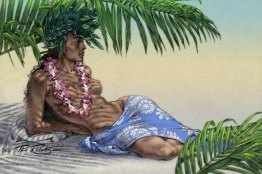 """Tahitian Palm Shade"" Fine Art Print on canvas 16""x24"" BUY NOW >>16""x24"" Canvas $200"