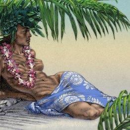 """Tahitian Palm Shade"" Fine Art Print on canvas 16""x24"" BUY NOW >>16""x24"" Canvas $200"