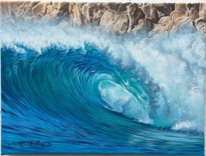 """Honolulu Bay Rocks"" 9X12 original acrylic/ oil on canvas for $500 >> BUY NOW"