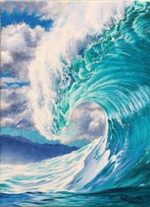 Ocean Wave Rain Barrel Surf Art Pipe Master Trophy Board by Phil Roberts